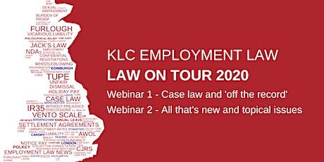 Virtual  Law on Tour - Webinars 1 & 2 tickets
