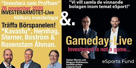 """""""Investera som Proffsen"""" med Börspanelen """"Kavastu"""", Hernhag m.fl. biljetter"""