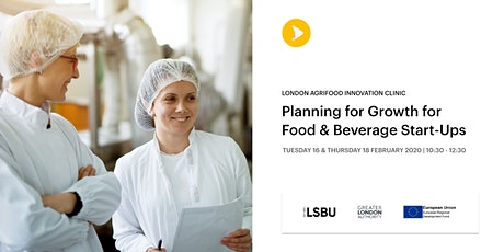 Planning for Growth for Food & Beverage Start-ups tickets