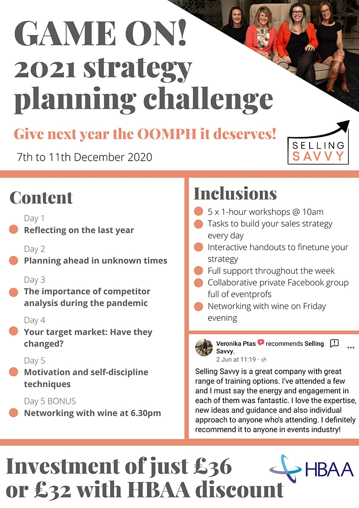 GAME ON! 2021 strategy planning challenge for eventprofs image