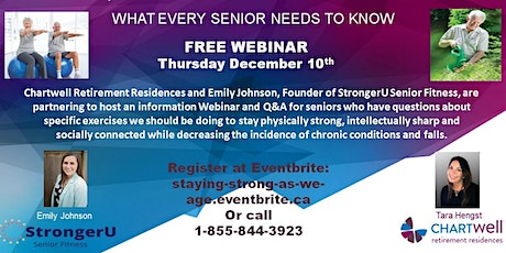 HOW TO STAY STRONG AS WE AGE  - What every Senior Needs To Know tickets