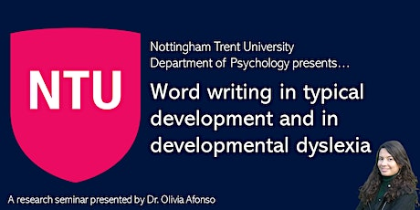 Word writing and dyslexia [Research Seminar] tickets