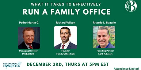 What it takes to Effectively run a Family Office tickets