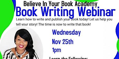 FREE BOOK WRITING WEBINAR tickets