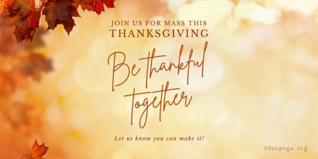 ThanksgivingDay  Mass at Holy Family Cathedral tickets
