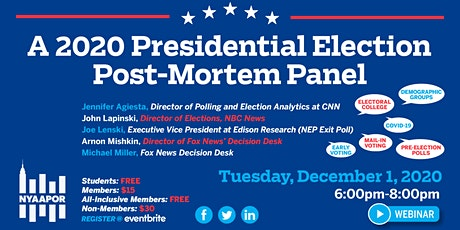 A 2020 Presidential Election Post-mortem Panel tickets