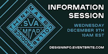 SVA MFA Design Information Session tickets