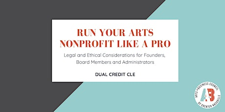 Run Your Arts Nonprofit Like a Pro CLE tickets
