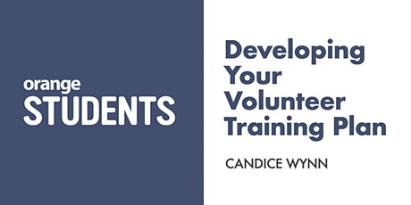 Developing Your Volunteer Training Plan tickets