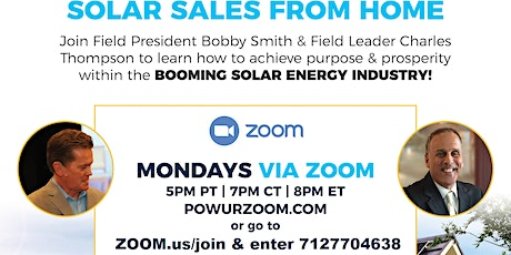 PASSIVE/RESIDUAL Income w/ the PowUr Part-time, HOME-BASED Solar Biz Opp tickets