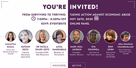 """From Surviving to Thriving: Taking Action to Address Economic Abuse tickets"