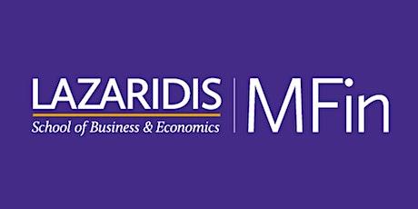 Wilfrid Laurier University - Lazaridis MFin - Online Information Session tickets