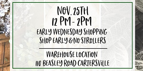 12-2pm Early Wednesday Shopping for Black Friday Warehouse Event tickets