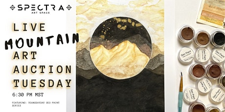 Live Art Auction   Mountains!  Geo Paint Series tickets