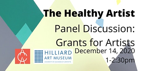 The Healthy Artist: Grants for Artists - Panel Discussion tickets
