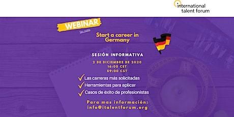 Start a career in Germany boletos