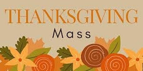 Thanksgiving Mass tickets