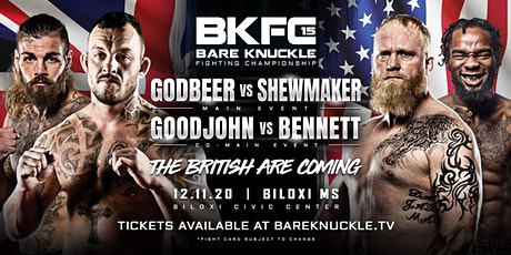 Bare Knuckle Fighting Championship 15: Godbeer vs. Shewmaker tickets