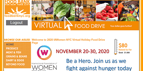 2020 Virtual Holiday  Food Drive tickets