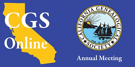 2021 CGS Annual Membership Meeting tickets