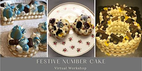 Festive Number Cake - Virtual Workshop tickets