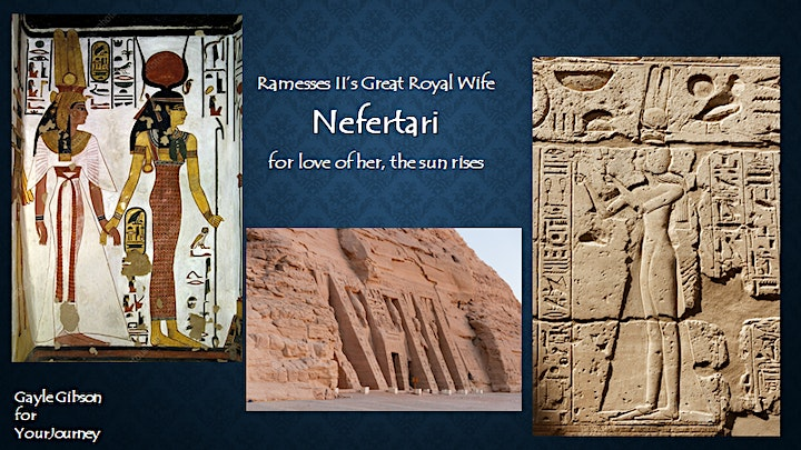 Nefertari: For love of her, the Sun rises.  A Gayle Gibson Talk image