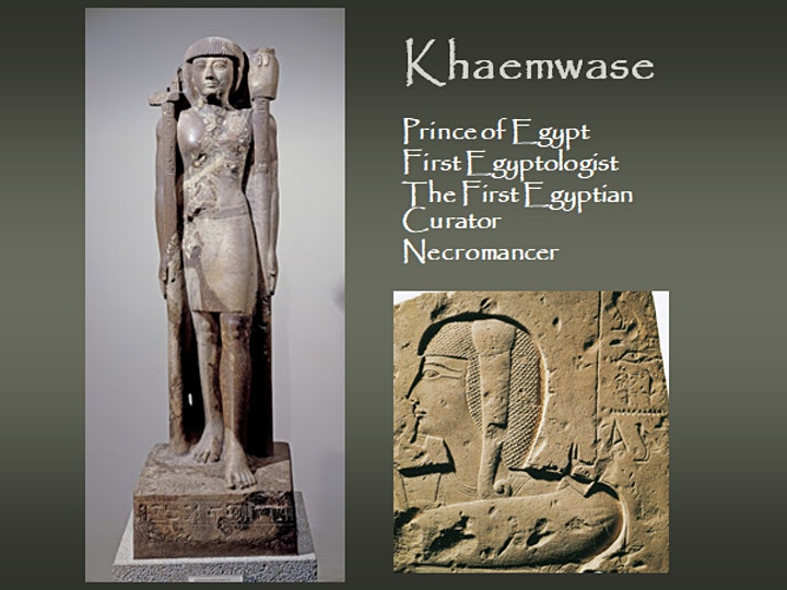 Khaemwase, the Prince who became a magician - A Gayle Gibson Talk image