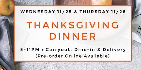 Thanksgiving Dinner PRE-ORDER tickets
