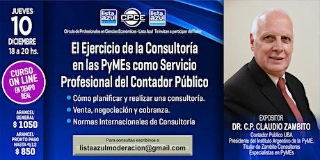 Consultoría en las PyMEs como Servicio Profesional del Contador Público entradas