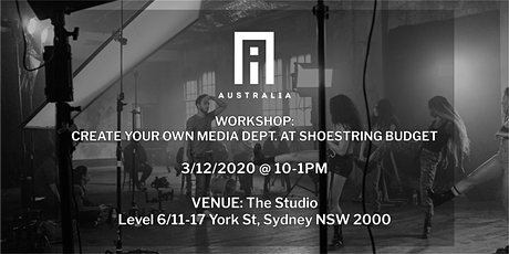 Workshop: How to create a media department at shoestring budget. tickets