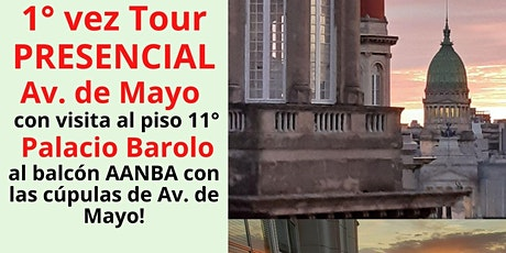 Tour PRESENCIAL guiado Av. de Mayo Montserrat y Art Nouveau con P. Barolo