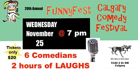 Wednesday, Nov. 25 @ 7 pm - ESSENTIAL WORKERS FREE - 20th Annual FunnyFest tickets