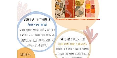 Papercut printmaking (polyhedrons) with artist & teacher Mel Rodknight tickets