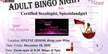 FRIDAY NIGHT  HOLIDAY ADULT  BINGO.  first 5 FREE tickets