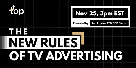 Singapore Webinar-The New Rules of TV Advertising tickets