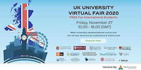 UK University Virtual Fair 2020 tickets