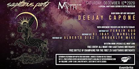 Sagittarius Party at Myth Nightclub | Saturday 12.12.20 tickets
