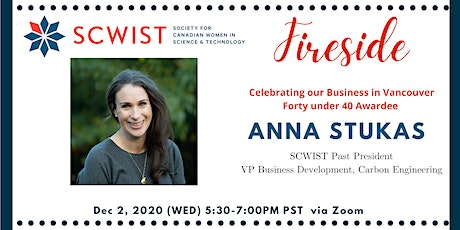 SCWIST Fireside with Anna Stukas tickets