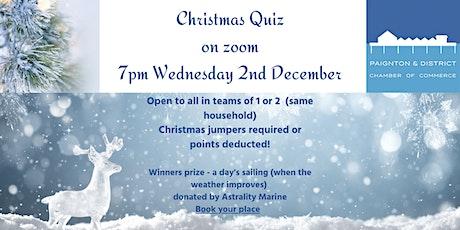 Paignton Chamber Virtual Christmas Quiz tickets