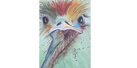 Colourful Emu  : Sip and Paint  with Catherine Watt, Townsville Art Classes tickets