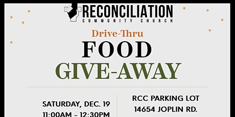FREE  DRIVE THRU FOOD GIVEAWAY tickets