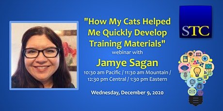 How My Cats Helped Me Quickly Develop Training Materials with Jamye Sagan tickets