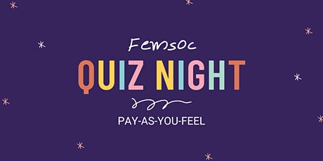 Feminist Society Pay-As-You-Feel Pub Quiz tickets