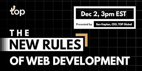 Leeds Webinar-The New Rules of Web Development tickets