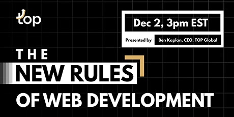 Melbourne Webinar-The New Rules of Web Development