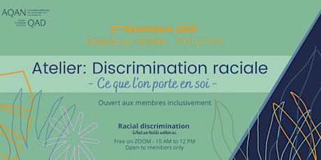 Discrimination raciale : ce que l'on porte en soi billets