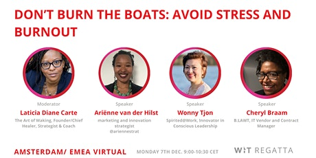 Don't Burn the Boats: Avoid Stress and Burnout tickets