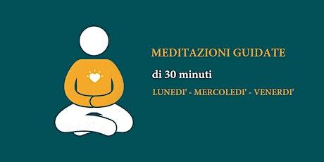 Meditazioni guidate online-tre sessioni settimanali