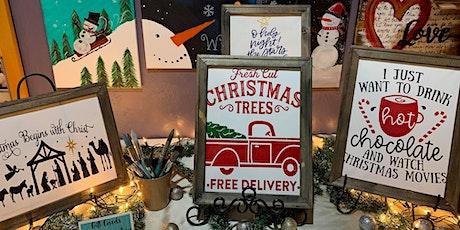 Christmas Signs Make & Take tickets