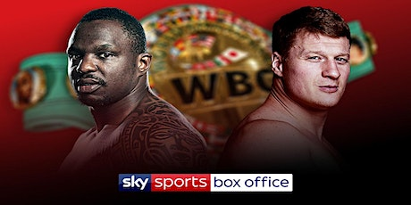 BOXING@!!..@WHYTE V POVETKIN LIVE ON tickets